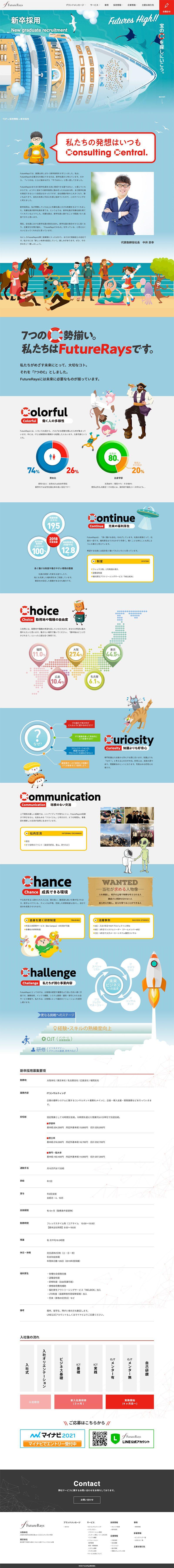 FutureRays株式会社様|コーポレートサイト/採用情報