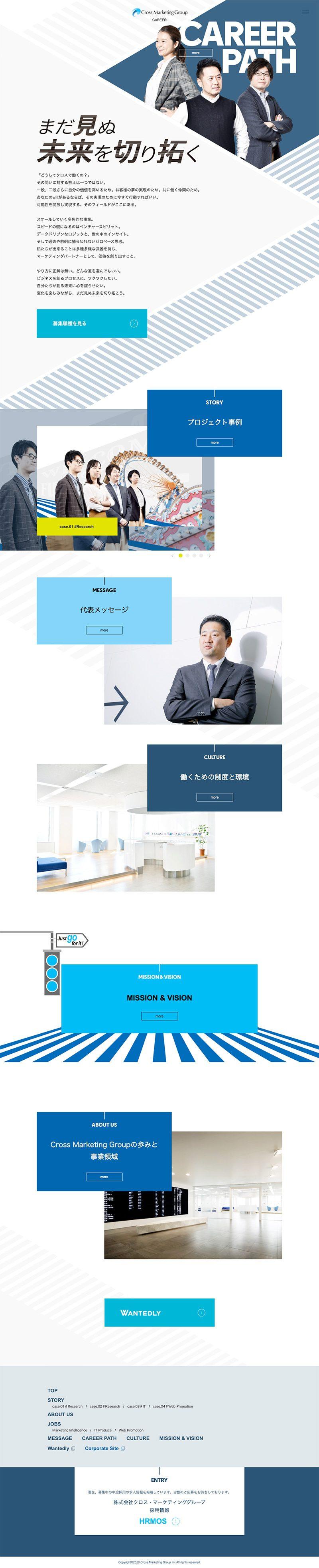 株式会社クロス・マーケティンググループ様 採用サイトキャリアTOP