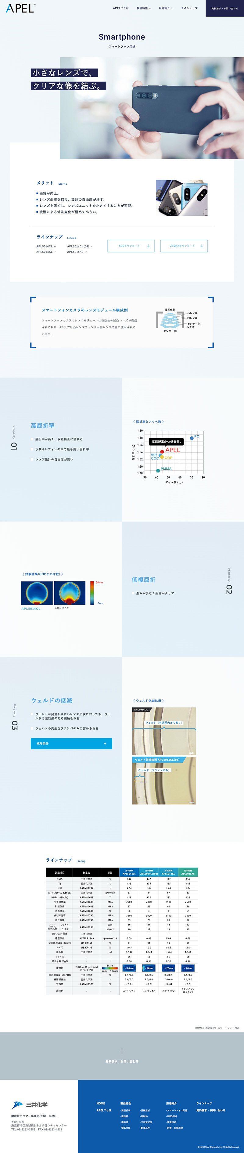 三井化学株式会社 機能性ポリマー事業部 様|製品特設サイト/スマートフォン用途