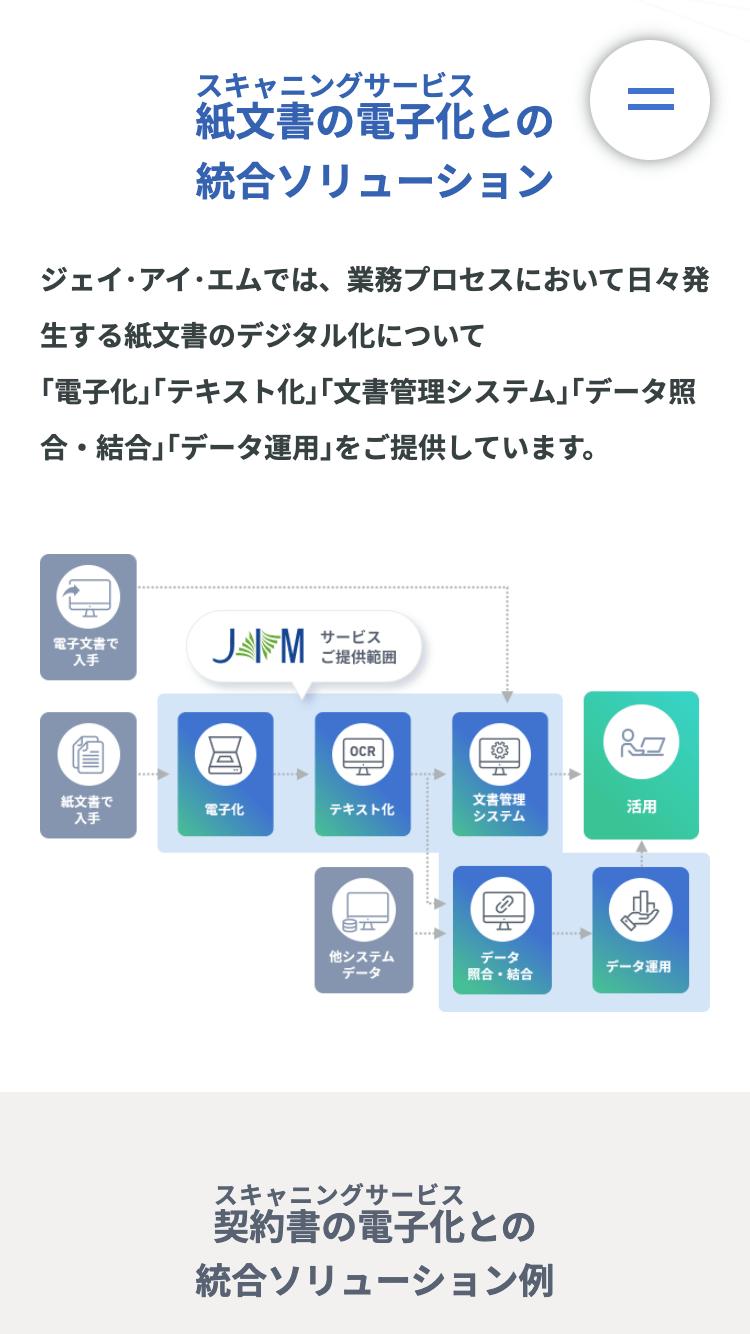 株式会社ジェイ・アイ・エム様 SPサイト