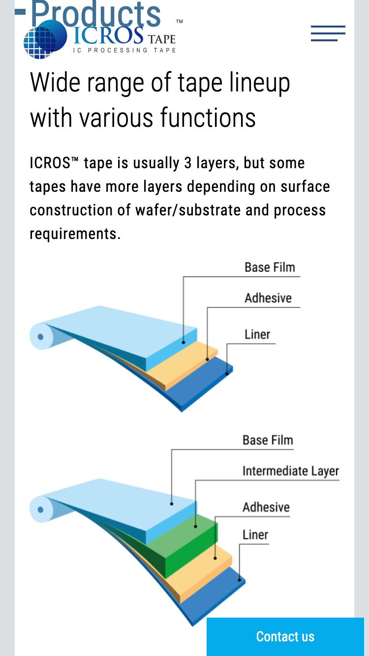 三井化学東セロ株式会社『ICROS™テープ』ブランドサイト|SP版-02